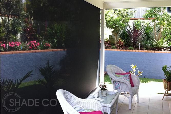 Outlook fabric by Ricky Richards | Straight drop awnings and blinds for outdoor areas