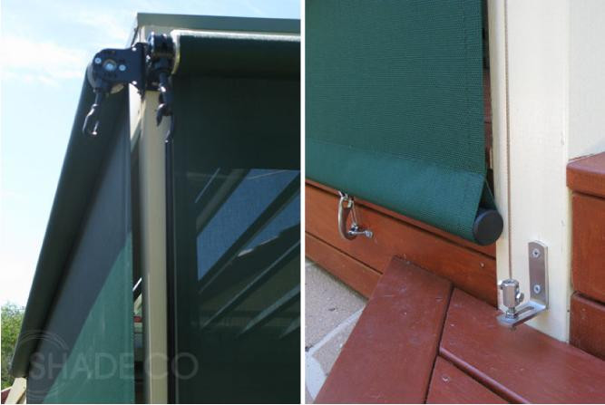 Wire guide outdoor blinds | cable guide awning | Outdoor blinds | Ziptrak blinds