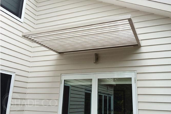 Cantilevered louvre awnings by Shadeco | Custom made awning
