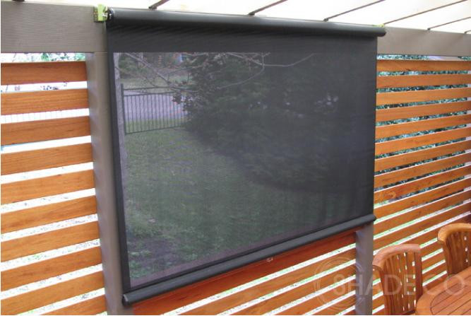Straight drop window awnings and blinds | verandah blind | Cafe blind