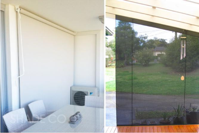 Straight drop blinds | Custom made blinds and awnings | cafe blinds