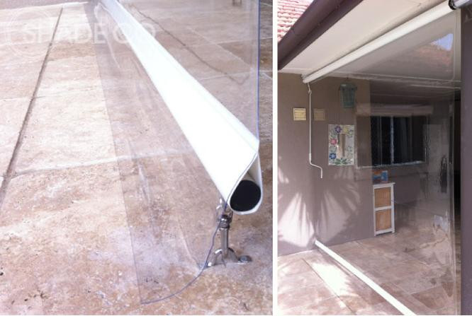 Cafe blind | Clear PVC blind | Awning with clear PVC | Verandah blind