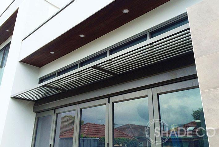 Aluminium awning | Fixed awning | Basix awning  | Louvre awning