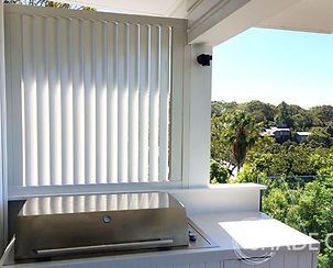 Aluminium privacy screen, fixed louvre screen sydney, custm made privacy screen sydney