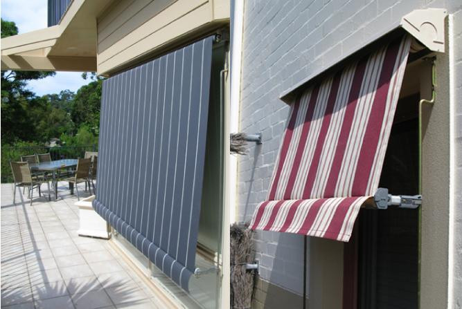 Automatic window awnings installed by Shadeco