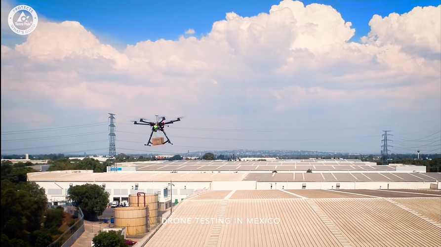 Tetrapack drone delivery project