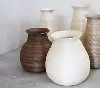 Sisal vases in natural colours