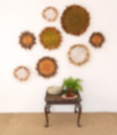 Sisal and feather wall displays