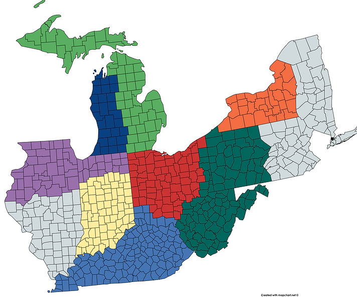 Smith Industrial Group Territory Map 202