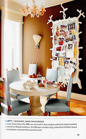Jonathan Berger Interior Design dining room in Park Slope Brooklyn townhouse