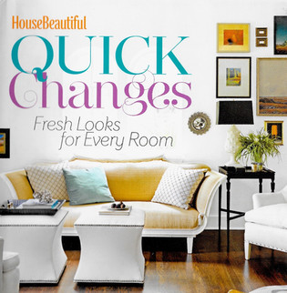 House Beautiful's book on Quick Changes, Fresh Looks For Every Room features Jonathan Berger's use of mirrors in custom cabinets