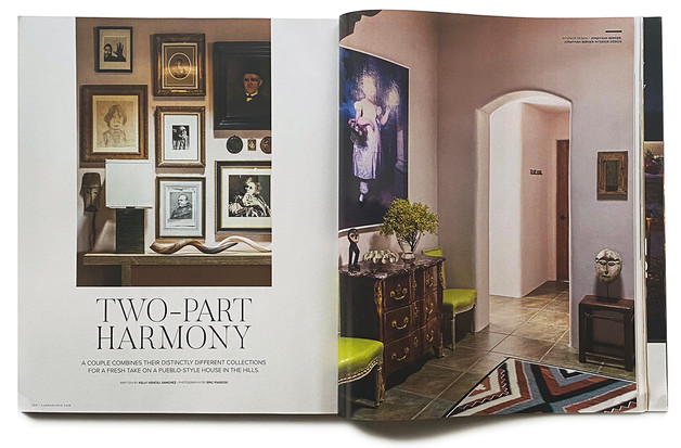 Luxe Magazine feature on Jonathan Berger's design of a Santa Fe home
