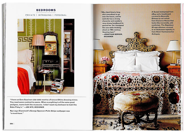 House Beautiful Style 101, Designer Secrets To A Beautiful Home showcases Jonathan Berger's use of glam in his interior design projects