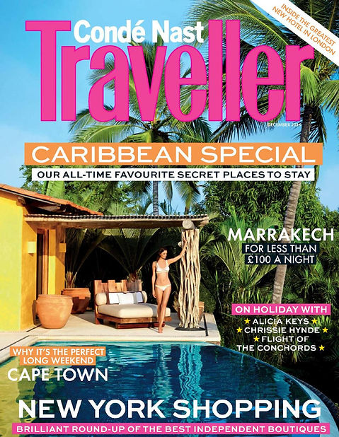 Condé Nast Traveller caribbean issue includes a feature on Jonathan Berger's design of a small boutique hotel
