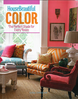 House Beautiful book Color The Perfect Shade For Every Room highlights Jonathan Berger's pink entry for a Brooklyn townhouse