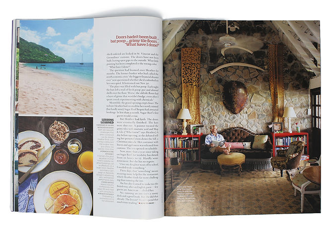 Islands magazine feature on Jonathan Berger's design for a boutique caribbean hotel