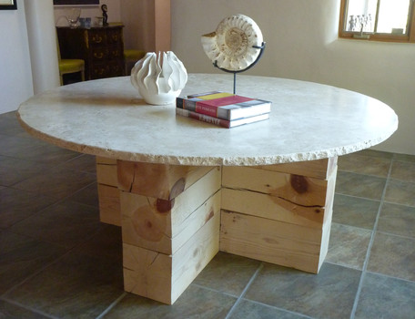 Custom designed tables by Jonathan Berger Interior Design