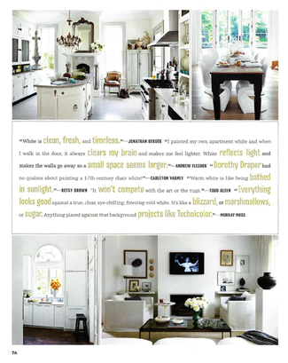 House Beautiful book Color The Perfect Shade For Every Room highlights Jonathan Berger's use of white