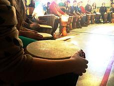 Ateliers de percussion africaine / Artistes à l'école / Les Productions Mosaiculture