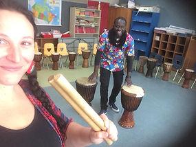 Percussion africaine / Artistes à l'école / Les Productions Mosaiculture