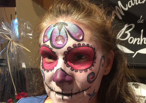 Maquillage d'Halloween pour adulte