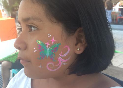 Papillon en stencil
