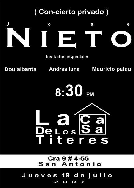 CON-CIERTO PRIVADO 2007 CASA DE LOS TITERES