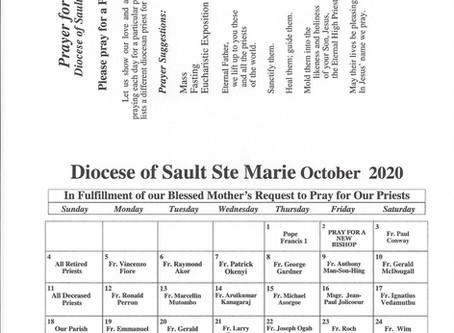 Prayer's for Priest - October 2020