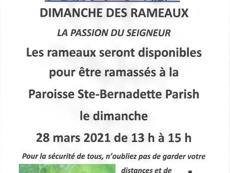 DIMANCHE DES RAMEAUX