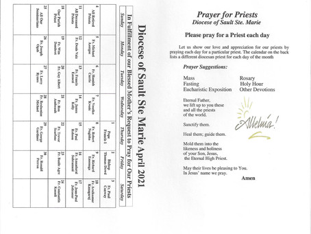 Prayer for Priests / April 2021 / Page 1