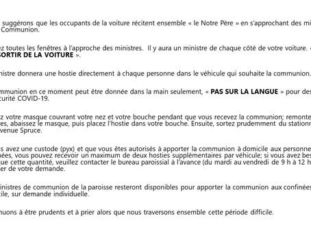 """Distribution de la Communion """"En Voiture"""""""