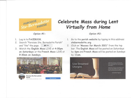 Celebrate Mass Virtually from Home