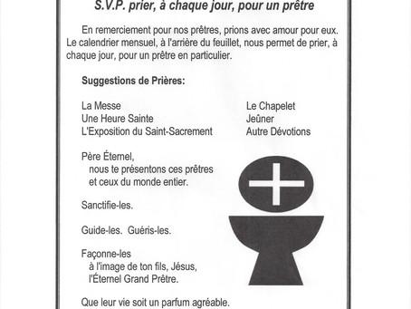 Prière pour les Prêtres / Août 2021