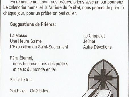 Prière pour les Prêtres / DSSM / Janvier 2021