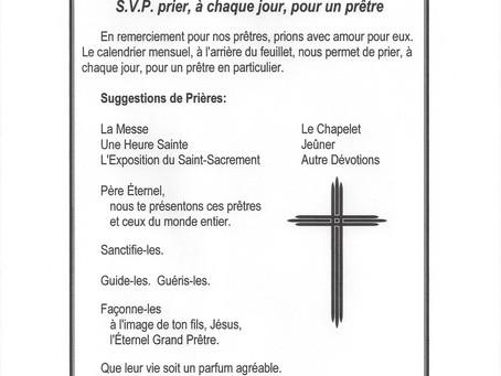Prière pour les Prêtres juillet 2021