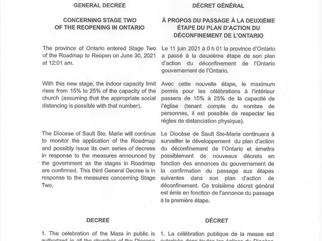 GENERAL DECREE / DÉCRET GÉNÉRAL