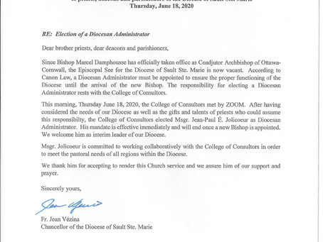 Election of a Diocesan Administrator