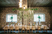 Mayowood Stone Barn Wedding Head Table, featured on Trendy Bride Magazine