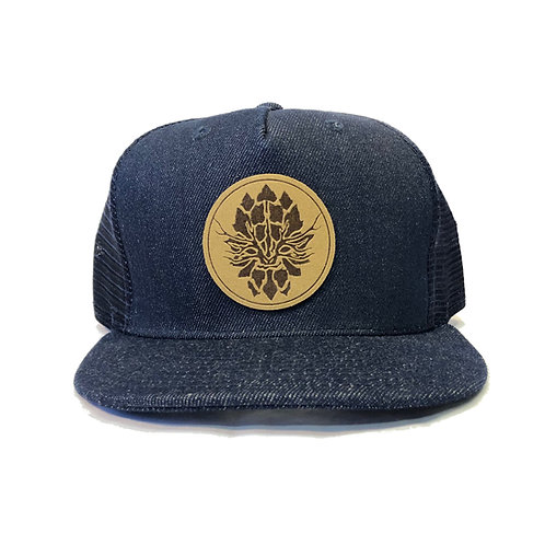 Blue Denim Trucker Snapback Hat