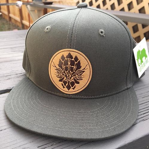 Olive Green Snapback Hat