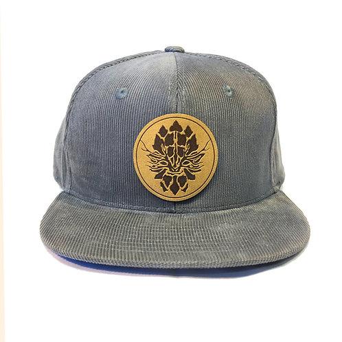 Grey Corduroy Snapback Hat