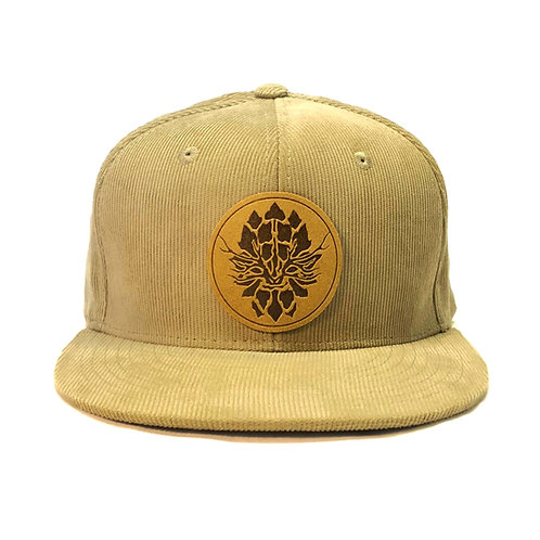 Tan Corduroy Snapback Hat