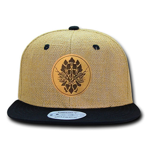 Black Jute Snapback Hat