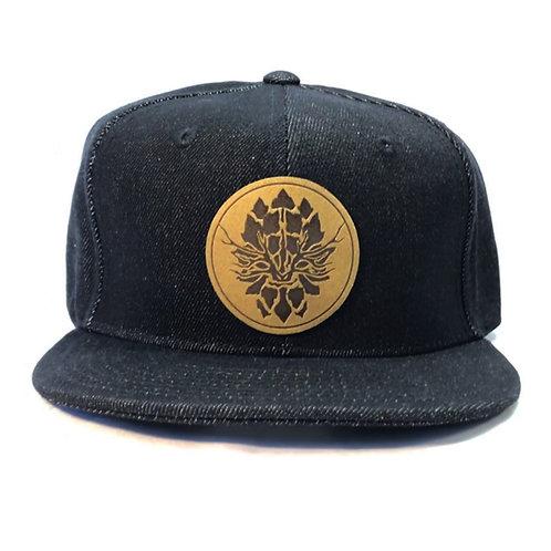 Black Denim Snapback Hat