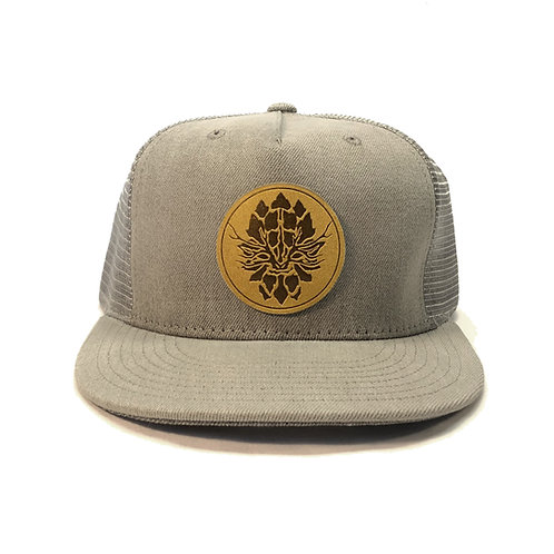 Grey Trucker Snapback Hat