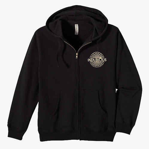 Black Full Zip Hoodie - 80% Organic Cotton