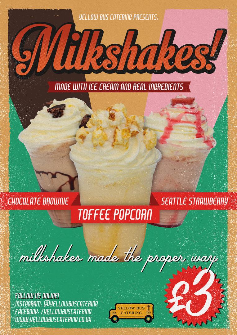 Milkshakes advert