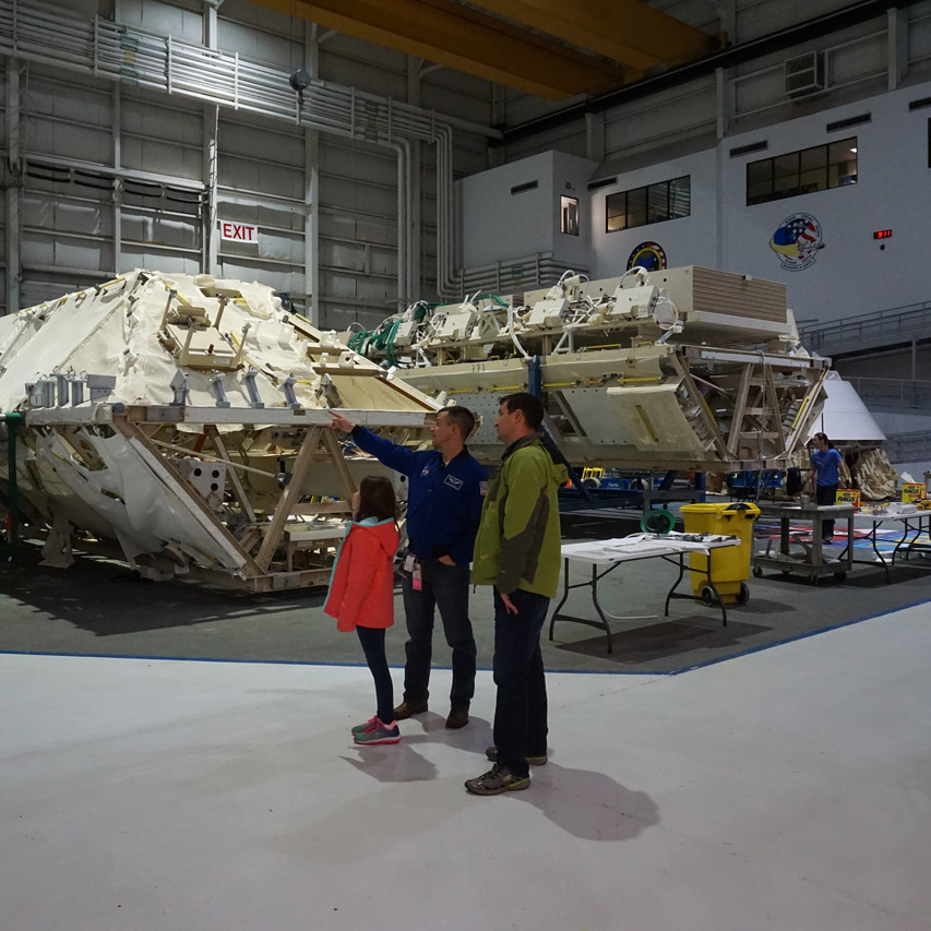 Pieces of ISS mock-up not currently in use