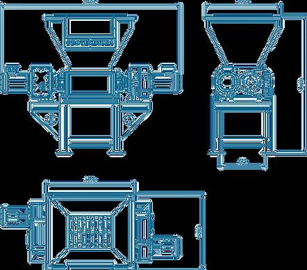 two shaft shredder dimensions