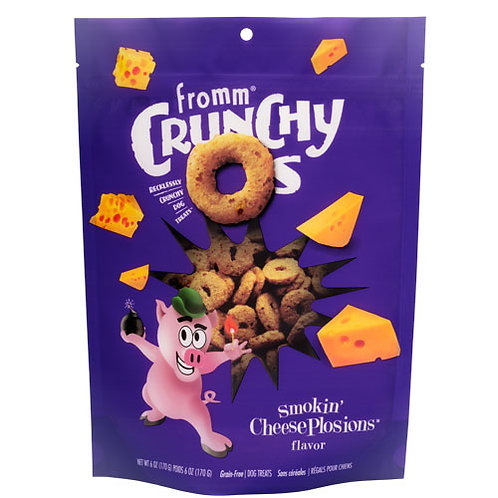 Fromm Crunchy O's Smokin' Cheese Plosions Flavor